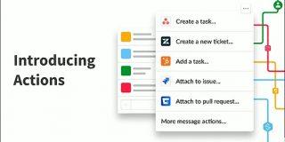 Slackが新機能「Actions」を発表、Slack上からほかのツールへの書き込みや操作を可能に - Publickey