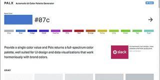 配色のセンスがなくても、ベースカラーにぴったりなカラーパレットを1クリックで自動生成する無料ツール -Plax | コリス