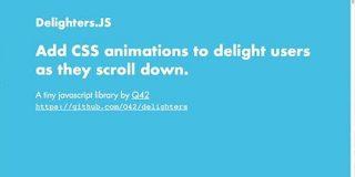 実装がどんどん簡単になっている!スクロールに連動するCSSアニメーションを与えるスクリプト -Delighters   コリス