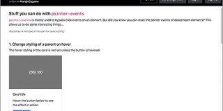 [CSS] pointer-eventsプロパティですごい便利に!クリックやホバーのターゲットになる要素を変更するテクニック | コリス