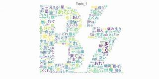 B'zの歌詞をPythonと機械学習で分析してみた~LDA編~ - データサイエンティスト見習いの日常