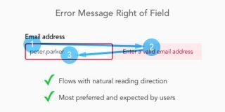 エラーメッセージはフォームのどこに表示するべきか | UX MILK