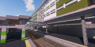 MINECRAFTで横浜駅のほんの一部を作ってみたんだが見てくれ:キニ速