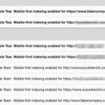Google、モバイルファーストインデックス移行の通知をさらに多くのサイトに一斉配信 | 海外SEO情報ブログ
