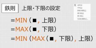 【Excel関数】最大なのに下限のMAX、最小なのに上限のMIN - わえなび ワード&エクセル問題集