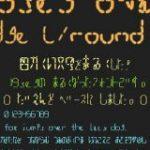 商用利用無料!電光掲示板に表示されるようなデジタル文字っぽい日本語フリーフォント -19seg oval | コリス