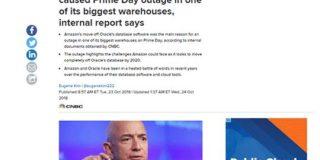 Amazonプライムデーのサーバ障害、AmazonがOracleからAurora DBに乗り換えたのが原因ではない。Amazon CTOがCNBCの報道を否定 - Publickey