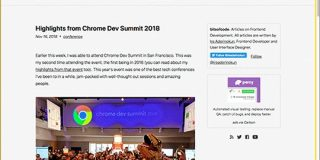 Chrome Dev Summit 2018が開催!制作者がチェックしておきたい、CSSとJavaScriptの最新情報 | コリス