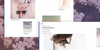 雑誌のようにめくって閲覧できるアニメーションテンプレート「Page Flip Layout」 | DesignDevelop