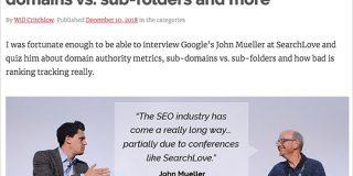 ドメインオーソリティに似ていなくもない指標をGoogleは持っている。サブドメインvsサブディレクトリは「サイト」の区分けに依存する | 海外SEO情報ブログ