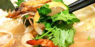 あとのせパクチーをプリプリの海老&帆立とともに楽しめる大戸屋「海老と帆立の香草レモン鍋定食」を味わってきた - GIGAZINE