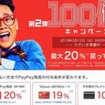 PayPay、「第2弾100億円キャンペーン」を2月12日から開始。最大20%還元や抽選で最大1000円分還元も実施 : IT速報