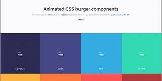 ハンバーガーメニューを簡単に実装できる、プレーンなHTML/CSSとReactコンポーネント -Animated Burgers | コリス