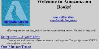 1995年のAmazonトップページはこんな感じだった - GIGAZINE