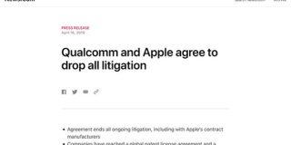 AppleとQualcomm、すべての訴訟を取り下げ全面和解 : IT速報