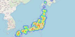 最寄りの二郎系ラーメン店が一目で確認できるマップが登場、二郎ヒートマップ機能も - GIGAZINE