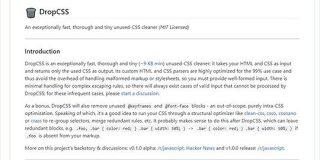 Webページ内で未使用のCSSを高速で削除してくれるライブラリ・「DropCSS」 | かちびと.net