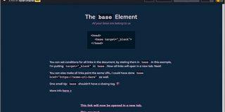 これ知ってた? base要素にtarget=_blankを加えると、ページ内のすべてのリンクに適用できる | コリス