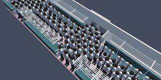 「満員電車で快適に過ごすための動き方」を物理シミュレーションで解き明かす - ITmedia