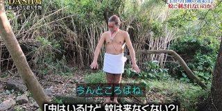 「足の菌を減らすと蚊に刺されにくい」を信じ、城島リーダーがDASH島の植物で自作した石鹸で足を洗って裸で森に30分じっと立つ #鉄腕DASH - Togetter