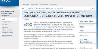 HTML標準仕様の策定についてW3CとWHATWGが合意 今後はWHATWGのリビングスタンダードが唯一のHTML標準仕様に - ITmedia