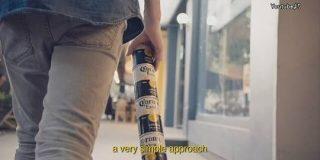 ビール缶を縦につないで運ぶ 新デザインが話題に   NHKニュース