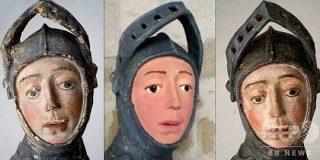 素人の修復で漫画風にされた聖像、再修復でほぼ原状回復 スペイン:AFPBB