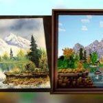 「ボブの絵画教室」の絵をマインクラフトで再現してしまった猛者が登場 – GIGAZINE