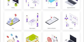 ビジネス系のサイトやアプリのイラストに困った時に!商用無料で使えるイラストのSVG素材 -Isometric | コリス