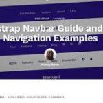 Bootstrap ナビゲーションバー(Navbar)のカスタマイズ方法といろいろなデザインの実装例 | コリス