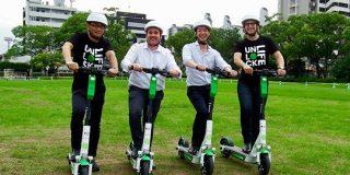 電動キックボードのLimeが日本に初上陸、全国的な展開を視野に、まずは福岡市でのサービス提供を目指す | TechCrunch