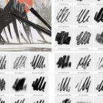 商用利用無料!カリグラフィ、ラインアートなど、さまざまなインクの質感で描けるPhotoshopのブラシ素材 | コリス