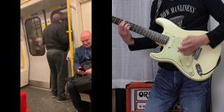電車の人と BON JOVI livin on a prayer コラボしてみた - YouTube