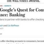 Google、銀行提携の預金口座サービス「Cache」計画中-WSJ報道 – ITmedia