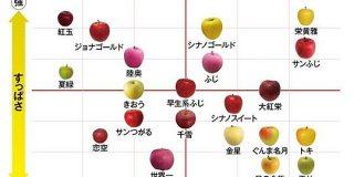 品種により個性はさまざま 甘さや酸味が一目でわかる「りんごチャート」 - ウェザーニュース