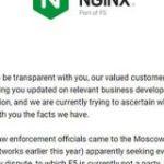 NGINX、モスクワオフィスへの強制捜査の状況を説明。創業者Igor Sysoev氏への尋問はあったものの、現時点で逮捕者や拘束者はなしと – Publickey