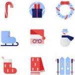 全員にクリスマスプレゼント!クリスマスのアイテムがかわいくデザインされたSVGのアイコン素材 | コリス