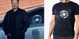 テスラがあの「窓ガラス破壊」の自虐Tシャツを公式発売 | TechCrunch