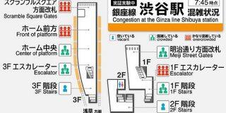 渋谷駅の混雑状況が電車内から分かる 東京メトロ「銀座線」で実証実験スタート - ITmedia