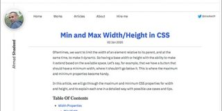 CSSの便利なプロパティmin-widthとmax-width、min-heightとmax-heightの効果的な使い方のまとめ | コリス