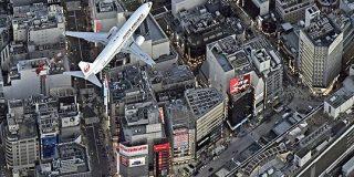 低空飛行かと思ったら意外と高い?羽田新ルートの試験飛行がスタートして東京の上空に飛行機が見えるように - Togetter