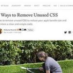 CSSファイルから未使用のスタイルを削除する4つの方法 | コリス