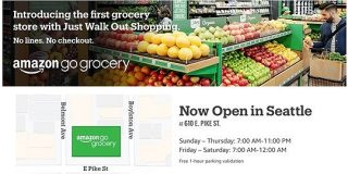 Amazon、レジなし食品スーパー「Amazon Go Grocery」1号店をシアトルに - ITmedia