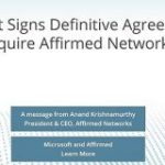 Microsoftが5G事業加速、仮想化ネットワークソリューション「Affirmed Networks」買収 – BRIDGE
