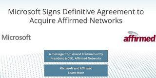 Microsoftが5G事業加速、仮想化ネットワークソリューション「Affirmed Networks」買収 - BRIDGE