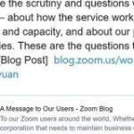 ZoomのCEOが一連の問題について謝罪 修正と透明性を約束 – ITmedia