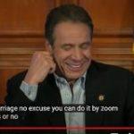 ニューヨーク州のクオモ知事、新型コロナ対策で「Zoom婚姻届」を合法にする知事命令 – ITmedia