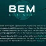 これでもうCSSのクラス名は迷わない!BEMの命名規則をまとめたチートシート -BEM Naming Cheat Sheet | コリス
