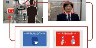 AIカメラで「マスクをしていない人」を判定し警告、凸版印刷らが実験 - ITmedia