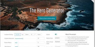 幅いっぱいの画像に与えるさまざまなCSSグラデーションを簡単に生成できる便利ツール -The Hero Generator | コリス